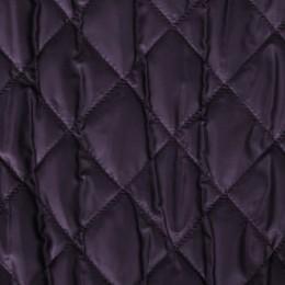 Ткань плащевка стеганная на синтепоне баклажановая (метр )