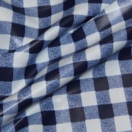Ткань плащевая лаке принт клетка 4 (метр )
