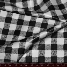 Ткань плащевая лаке принт клетка 1 (метр )
