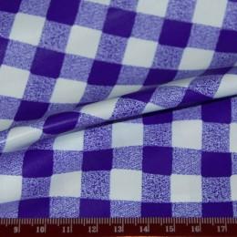 Ткань плащевая лаке принт клетка 3 (метр )