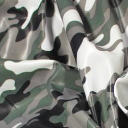 Ткань плащевая лаке принт камуфляж (метр )