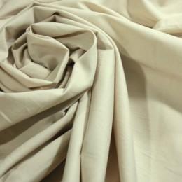 Ткань рубашечная стрейчевая светло-бежевая L-001955 (метр )