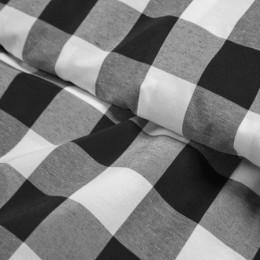 Ткань рубашечная клетка черно-белая (метр )