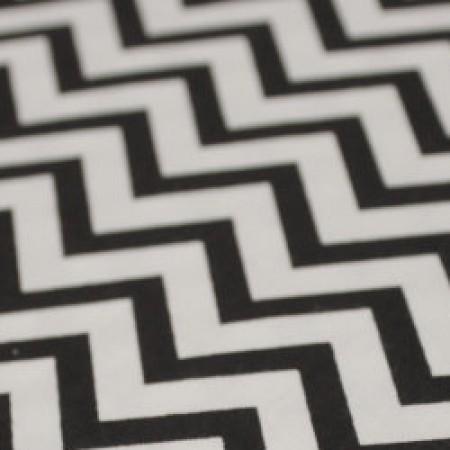Ткань сатин хлопок принт зиг-заг 66101 (метр )