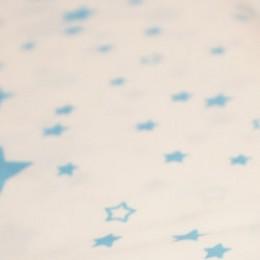 Ткань сатин хлопок принт голубые звезды 66119 (метр )