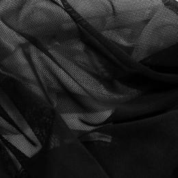Ткань сетка стрейч черная (метр )