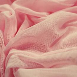 Ткань сетка стрейч розовая (метр )