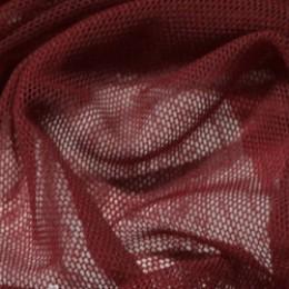 Ткань сетка стрейч бордовая (метр )