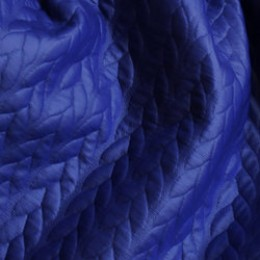 Ткань стеганый трикотаж кожа косичка (электрик) (метр )