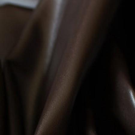 Ткань исскуственная стрейч кожа темно-коричневая (метр )