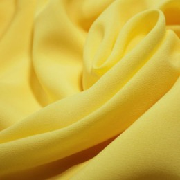 Ткань креп-шифон желтый (метр )
