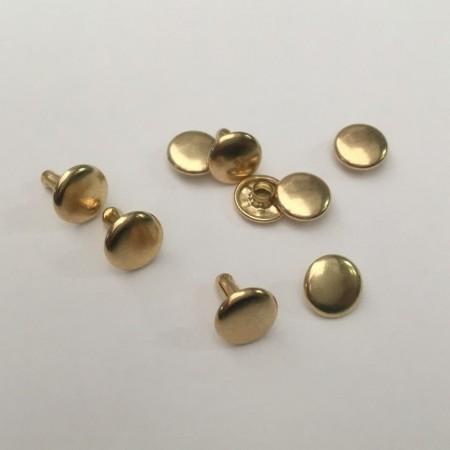 Хольнитен 12х12 мм двухсторонний золото (1000 штук)