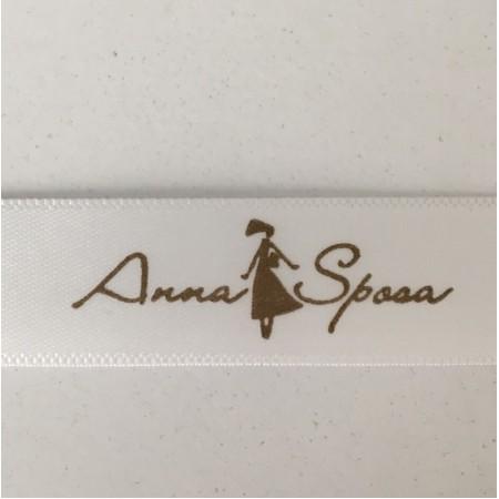 Этикетка накатанная 10мм Anna Sposa заказная (100 метров)