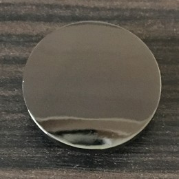 Кнопка металлическая плоская нержавейка 12мм темный никель (1000 штук)