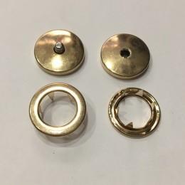 Кнопка металлическая плоская нержавейка 17мм золото беби (1000 штук)