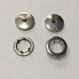 Кнопка металлическая плоская нержавейка 17мм никель беби (1000 штук)