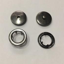 Кнопка металлическая плоская нержавейка 17мм темный никель беби (1000 штук)