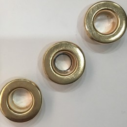 Люверс плоский 14мм №28 нержавейка золото (1000 штук)