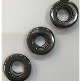 Люверс плоский 15мм №30 нержавейка темный никель (1000 штук)