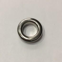 Люверс круглый 10мм №24 нержавейка никель (1000 штук)