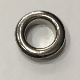 Люверс круглый 15мм №30 нержавейка никель (1000 штук)