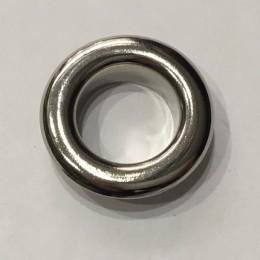 Люверс круглый 19мм №32 нержавейка никель (1000 штук)