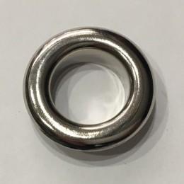Люверс круглый 26мм №40 нержавейка никель (1000 штук)