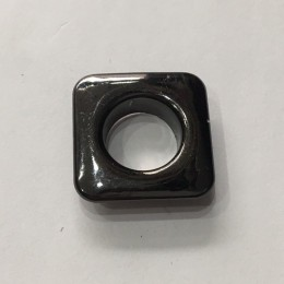 Люверс квадрат 11мм №26 нержавейка темный никель (1000 штук)