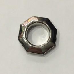 Люверс ромб 14мм №28 нержавейка никель (1000 штук)