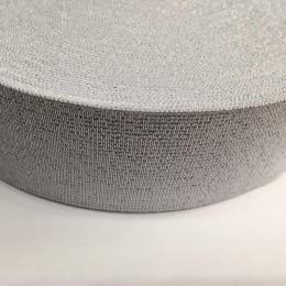 Резинка 50мм серебро белый (25 метров)