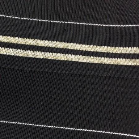 Довяз черный 2 полосы люрекс (манжет 14х7см) 180см (Килограмм)