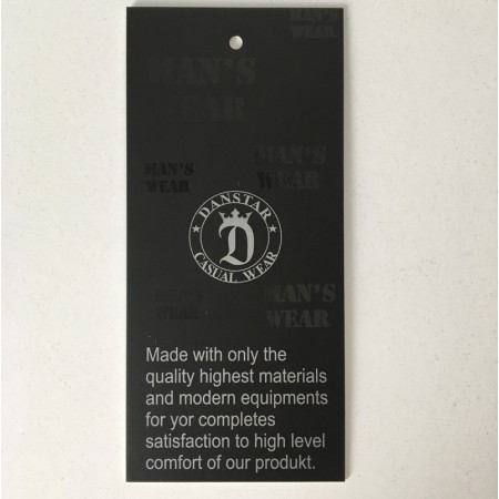Этикетка картонная 5х110см Danstar Mans Wear заказная (Штука)