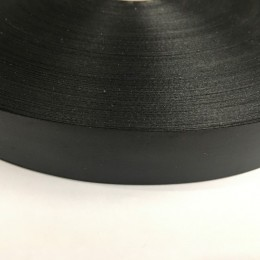 Лента для печати на термопритере сатен (атлас) 25мм черная (400 метров)
