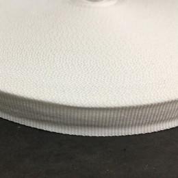 Тесьма репсовая производство 25мм белая (50 метров)