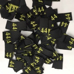 Размер жаккардовый 10х10мм (черный-желтый) 44 (100 штук)