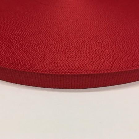 Тесьма репсовая производство 10мм красная  (50 метров)