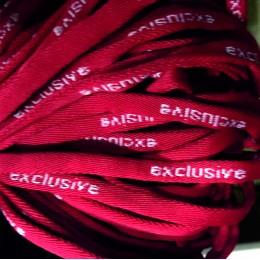 Шнур круглый с логотипом exlusive 7мм красный (метр )