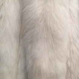 Опушка из натурального меха песец 70см двойная ширина 11см альбинос (Штука)