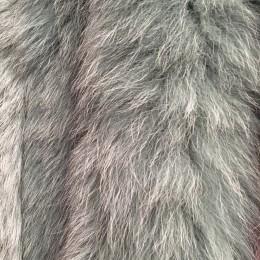 Опушка из натурального меха песец 70см двойная ширина 11см мята (Штука)