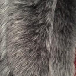 Опушка из натурального меха песец 70см двойная ширина 11см серый графит (Штука)