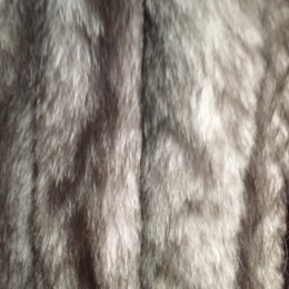 Опушка из натурального меха песец 70см двойная ширина 11см фрост (Штука)