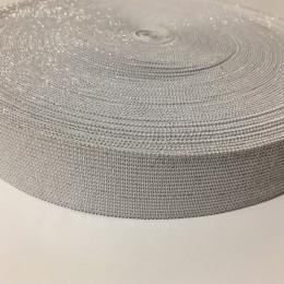Резинка 30мм серебро белый (25 метров)