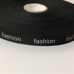 Тесьма репсовая производство 15мм накатка Fashion белый (50 метров)