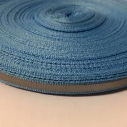 Тесьма светотражающая 1см голубой (50 метров)