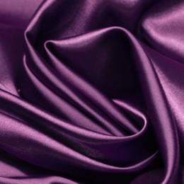 Ткань атлас стрейч тонкий баклажан (метр )