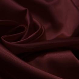 Ткань атлас стрейч тонкий марсала (метр )