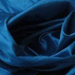 Ткань атлас стрейч тонкий морская волна (метр )