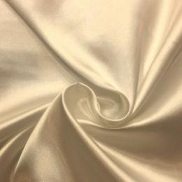 Ткань атлас стрейч тонкий айвори (метр )