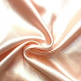 Ткань атлас стрейч тонкий пудра (метр )