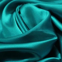 Ткань атлас стрейч тонкий зеленая бирюза (метр )